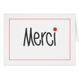 Merci Business Thank You Note in any language Card