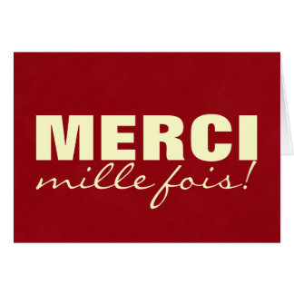 MERCI mille fois! Card