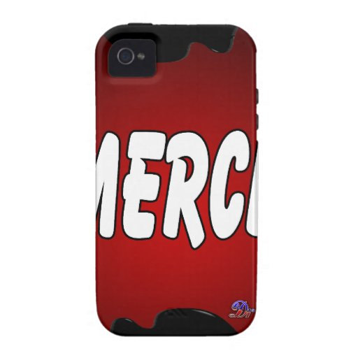 MERCI RED BACKGROUND PRODUCTS CASE FOR THE iPhone 4