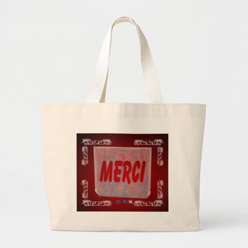 MERCI RED CUSTOMIZABLE PRODUCTS CANVAS BAGS