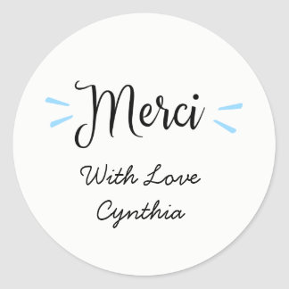 Merci Thanks Labels Stickers