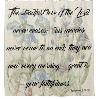 Mercies of God Iris Flower Garden Shower Curtain