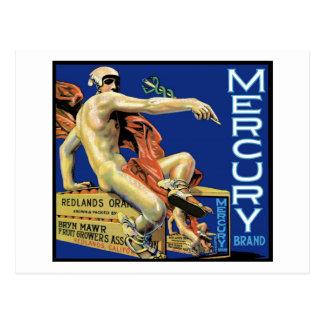 Mercury Brand Postcard