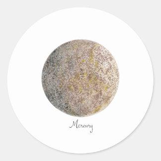 mercury classic round sticker