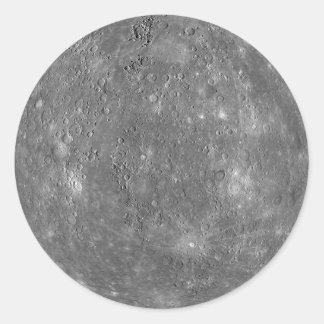 Mercury Planet Photo Classic Round Sticker