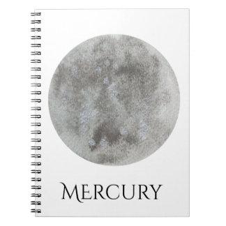 Mercury Planet Watercolor Notebook