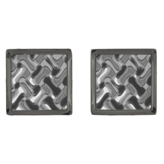 Mercury & Sable Gunmetal Square Cufflinks Gunmetal Finish Cufflinks