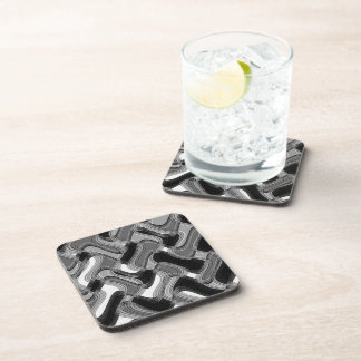 Mercury & Sable Hard Plastic Coasters Set