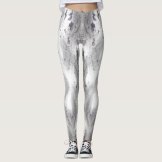 Mercury silver dipped Print woman's leggings