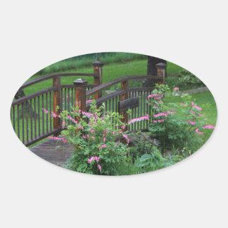 Mercury's Garden Oval Sticker