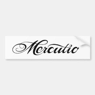 Mercutio Band Sticker Bumper Sticker