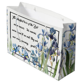 Mercy Love of God Blue Iris Flower Garden Gift Bag