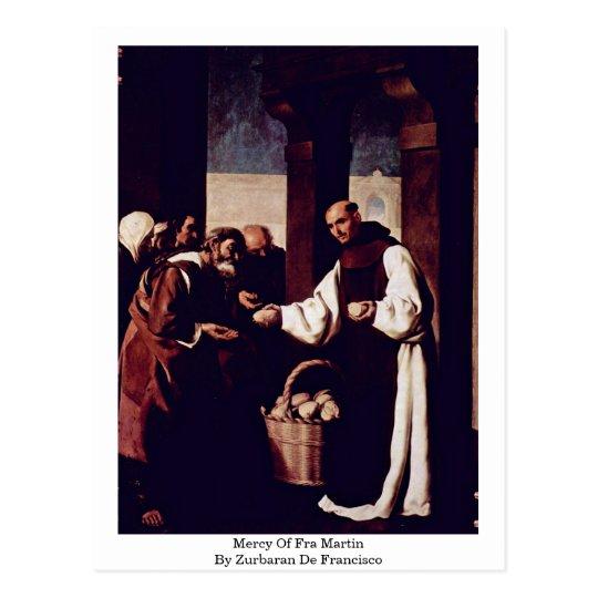 Mercy Of Fra Martin By Zurbaran De Francisco Postcard