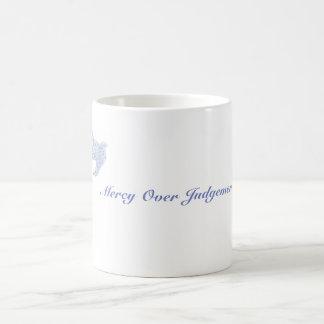Mercy over Judgement Basic White Mug