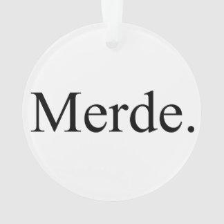 Merde ornament for ballet dancers - good luck