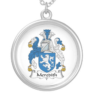 Meredith Family Crest Silver Plated Necklace