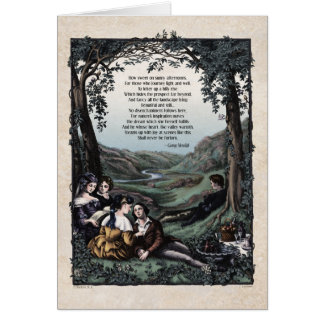 "Meredith ""Pastorals"" Victorian Art Card"
