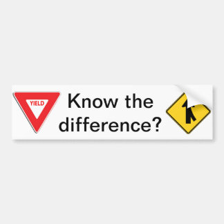 Merge/Yield Know the difference? Bumper Sticker