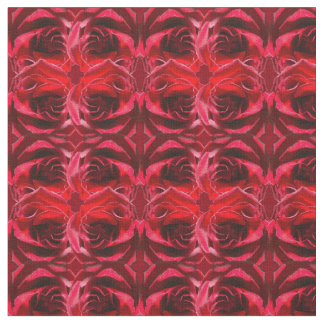 Merged Red Roses Fabric