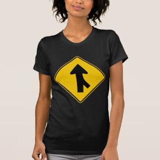 Merging Traffic Highway Sign (Right) Shirt