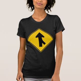 Merging Traffic Highway Sign (Right) Shirt