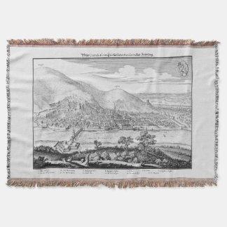 MERIAN: Heidelberg Castle and Old City (1620) Throw Blanket