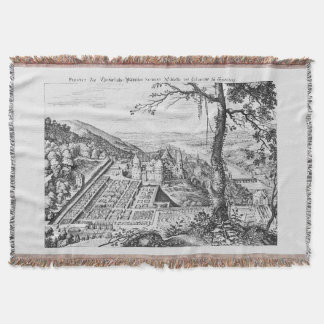 MERIAN: Heidelberg Castle and Royal Gardens 1620 Throw Blanket