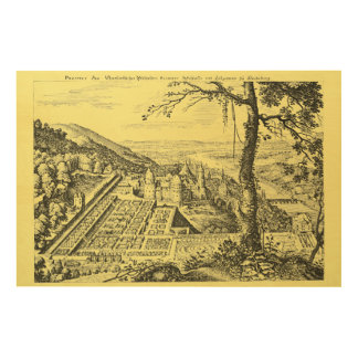 MERIAN: Heidelberg Castle and Royal Gardens 1620 Wood Print