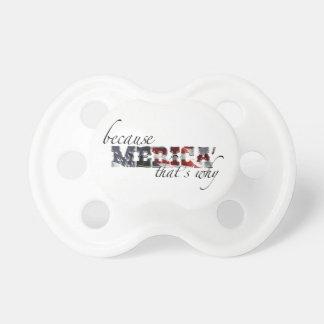 Merica Baby Pacifiers