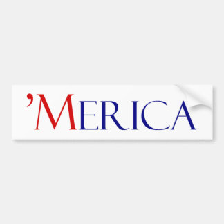 """Merica! Bumper Sticker"