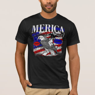 Merica Cowboy and Eagle T-Shirt