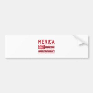 Merica Flag Bumper Sticker