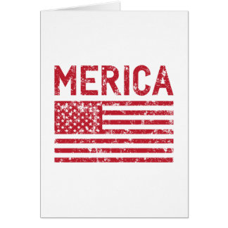Merica Flag Card
