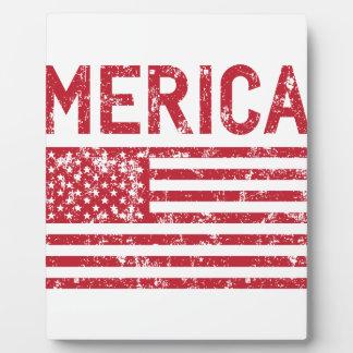 Merica Flag Plaque