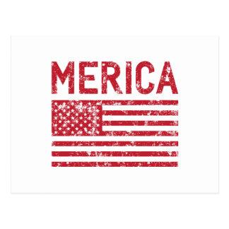Merica Flag Postcard