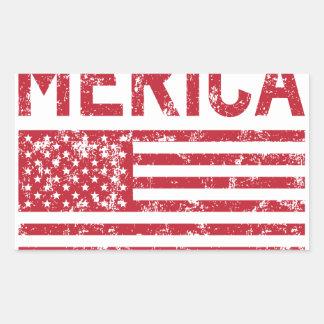 Merica Flag Rectangular Sticker
