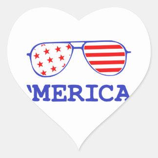 'Merica Heart Sticker