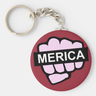Merica in Your Face Key Ring