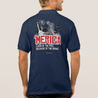 'Merica - Land of the free because of the brave Polo Shirt