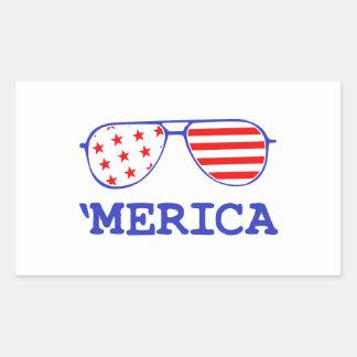 'Merica Rectangular Sticker
