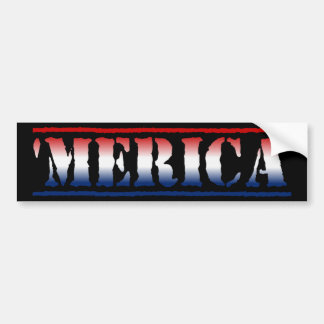 'MERICA Red White & Blue Bumper Sticker