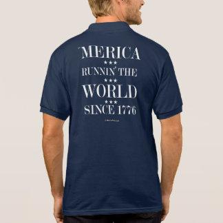 'Merica - Runnin' the world since 1776 Polo T-shirts