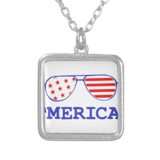 'Merica Silver Plated Necklace