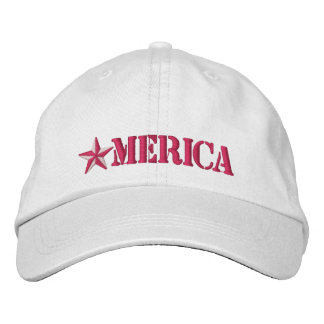Merica Star Embroidered Hat