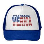 'MERICA Stay Classy Blue Snapback Trucker Hat