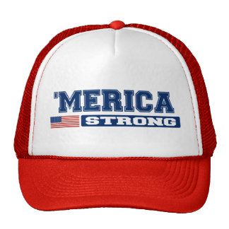 'MERICA STRONG Hat (blue & red)
