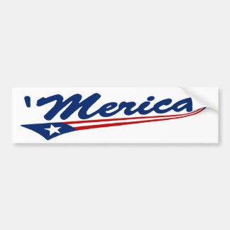 'Merica Swoosh Bumper Sticker