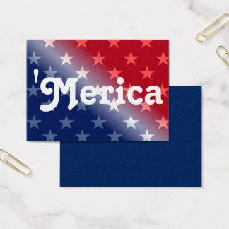 """Merica Team Cards - red white blue"