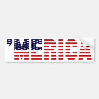'MERICA U.S. Flag Bumper Sticker