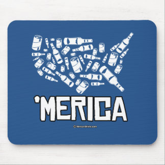 Merica - United States of Alcohol Mouse Pad